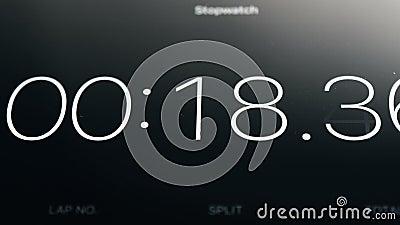 Chronometer die op Tablet lopen stock videobeelden