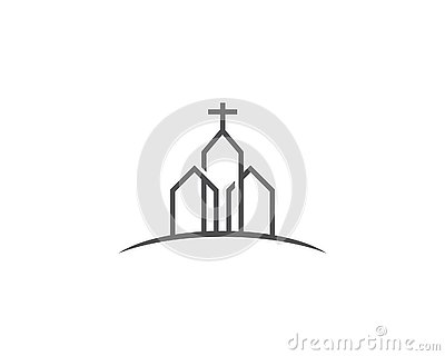 Chruch logo vector Vector Illustration