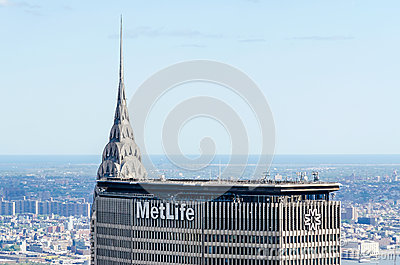 Chrysler Bldg and Metlife Bldg Editorial Image