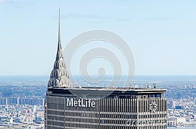 Chrysler Bldg and Metlife Bldg Editorial Image
