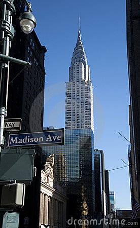 Chrysler building by Madison ave Editorial Image