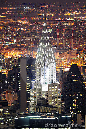 Chrysler Building in Manhattan New York City Editorial Stock Image