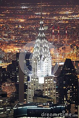 Chrysler Building in Manhattan New York City Editorial Stock Image