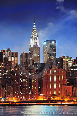 Chrysler Building in New York City Manhattan Editorial Stock Image