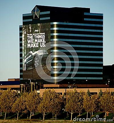 Chrysler Headquarters Editorial Image