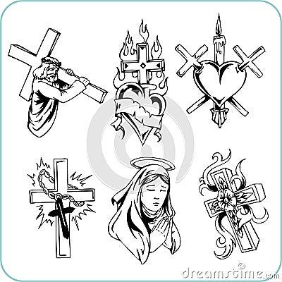Chrześcijańska religia - wektorowa ilustracja.