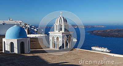 Chuch in Fira. Santorini. Greece. Editorial Image