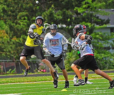 Chumash Lacrosse shot Editorial Stock Image