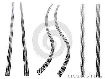 Chunky tyre tracks