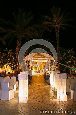 Chuppa sulla cerimonia nuziale ebrea.