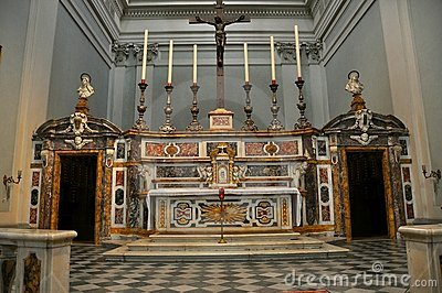 Church altar in Italy
