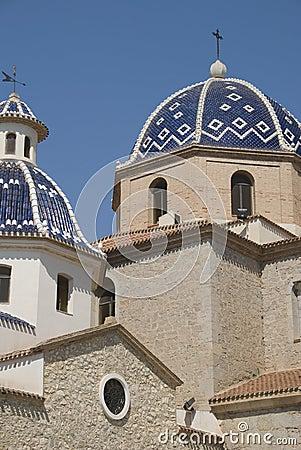 Church in Altea, Spain