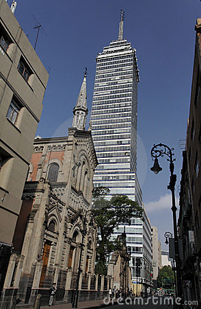 Free Church And Tower Mexico City Stock Image - 3245991