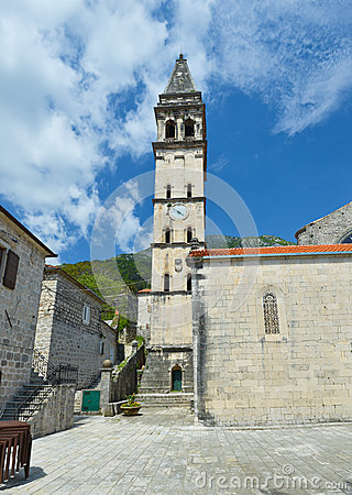 Free Church And Tower With The Clock Stock Photos - 46515203