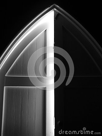 Free Church: Arched Door Stock Photography - 37138892