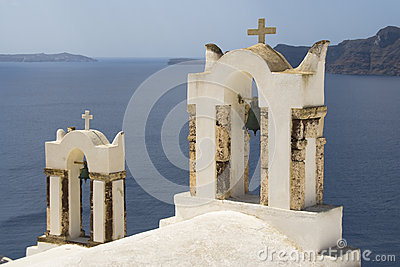 Church belfry in Oia