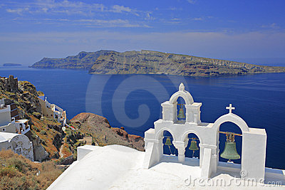 Church bells in Oia village