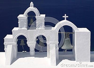 Church Bells - Santorini in Greece