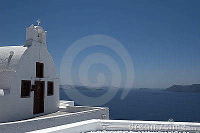 Church bells on Santorini island