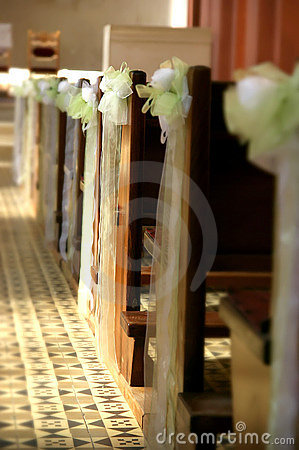 church bench decoration