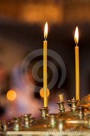 Free Church Candles Royalty Free Stock Images - 24011559