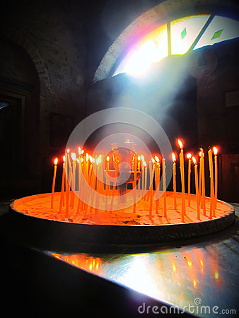 Free Church Candles Stock Photography - 27660072