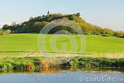 Church and castle ruin