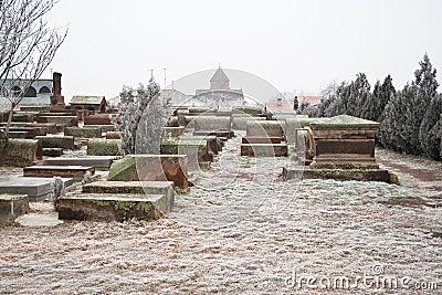 Church Cemetery in Echmiadzin. Armenia