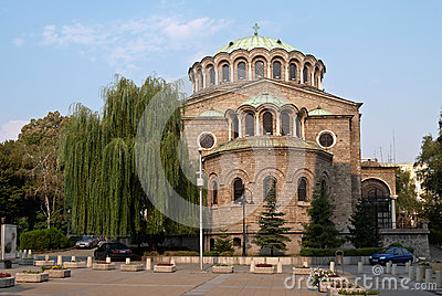 Church in the centre of Sofia, Bulgaria