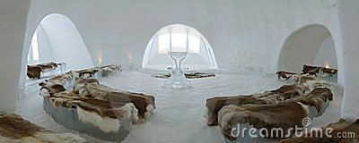 Church and chapel of Ice Hotel near Kiruna Editorial Photo