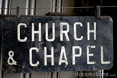 Church & Chapel Trolley Stop Sign