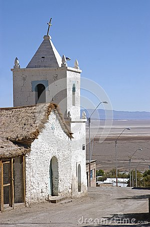 Church in the Chilean Altiplano