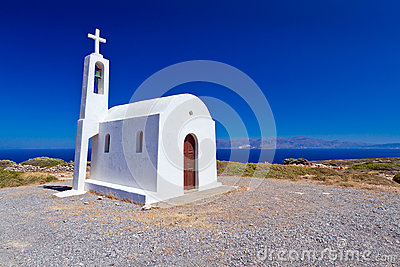 Church on the coast of Crete in Greece
