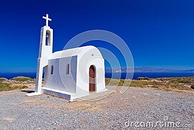 Church on the coast of Crete in Greece