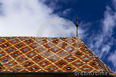 Church colorful roof - Sibiu Evangelical Cathedral