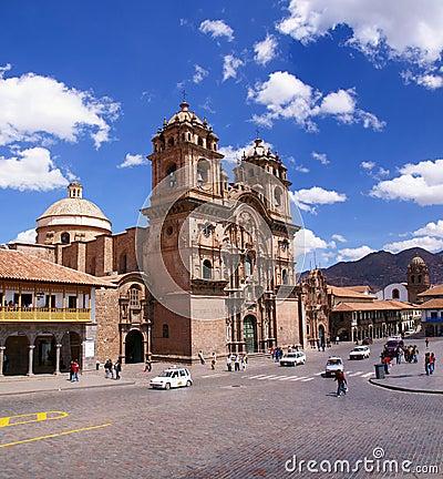 Church of the Company of Jesus,  Plaza d Armas, Editorial Photo