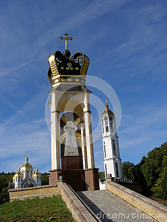Church complex in Zarvanica, Ternopil region, Ukraine