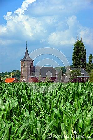 Church in corn field 2.