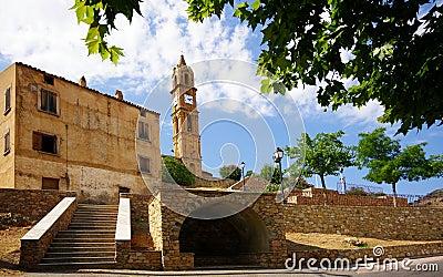 Church in corsica village