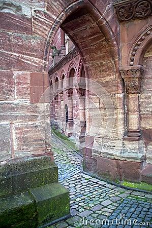Church courtyard of Basel Minster