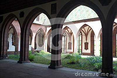 Church courtyard of Basel Minster