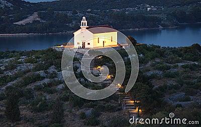 Church in Croatian town Murter