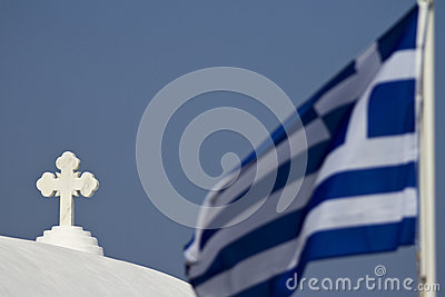 Church Cros and Greek Flag