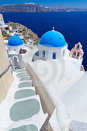 Church Cupolas on Santorini island