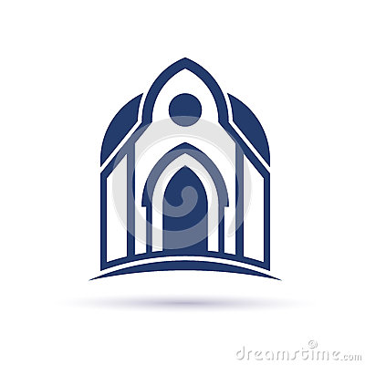 Free Church Cupula Facade Logo Stock Photos - 49673933