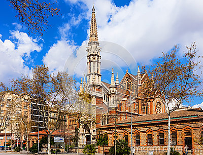 Church de las Salesas in Barcelona. Catalonia Editorial Stock Image