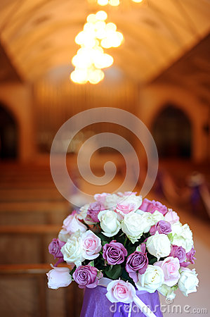 Free Church Decorated For A Wedding Stock Photography - 28136602