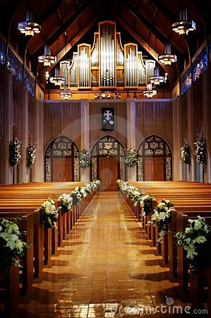 Free Church Decorated For A Wedding Stock Photo - 5498100