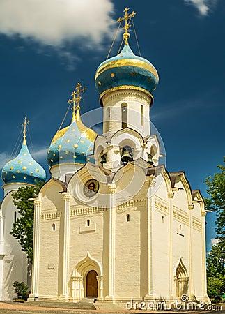 Free Church Descent Of The Holy Spirit. Trinity St. Sergius Lavra. Royalty Free Stock Photos - 74558848