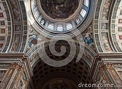 Church details in Mantua